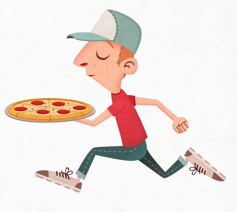 Прикольные картинки доставка пиццы, год девочке